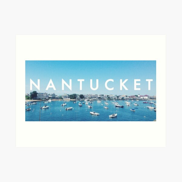 Nantucket Harbor Art Print