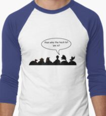 Intruder Alert! Men's Baseball ¾ T-Shirt