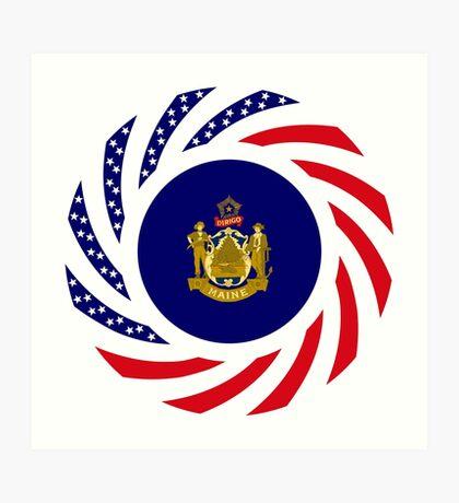 Maine Murican Patriot Flag Series 1.0 Art Print