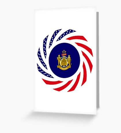 Maine Murican Patriot Flag Series 1.0 Greeting Card