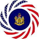 Maine Murican Patriot Flag Series 1.0 by Carbon-Fibre Media
