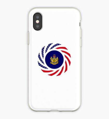 Maine Murican Patriot Flag Series 1.0 iPhone Case