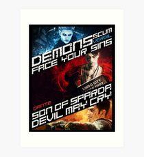 DmC Devil May Cry demon brothers Art Print
