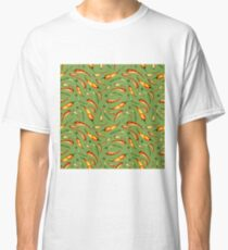Watercolor seamless hand drawn pattern with red hot chilli peppers.  Classic T-Shirt