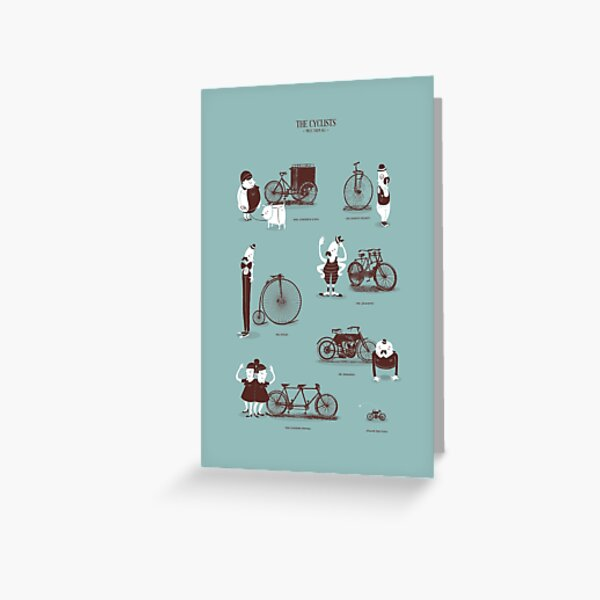 Meet The Cyclists Greeting Card