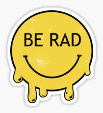 Be Rad - Decayed Smiley Face Sticker