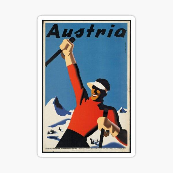 Snow! Skis! Austria!  Sticker