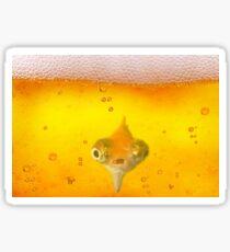 Drunk Fish Beer Fish Sticker