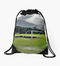 The Beautiful Game on the Garden Isle Drawstring Bag
