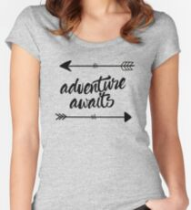 Adventure Awaits (arrows) Women's Fitted Scoop T-Shirt