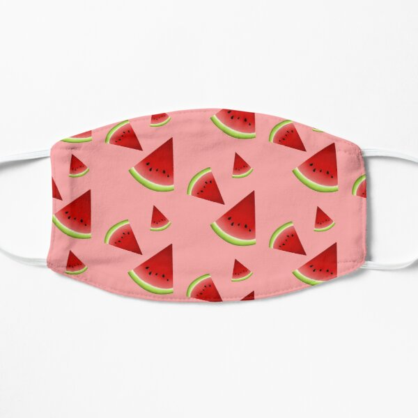 """""""One in a Melon"""" Watermelon slices  Flat Mask"""