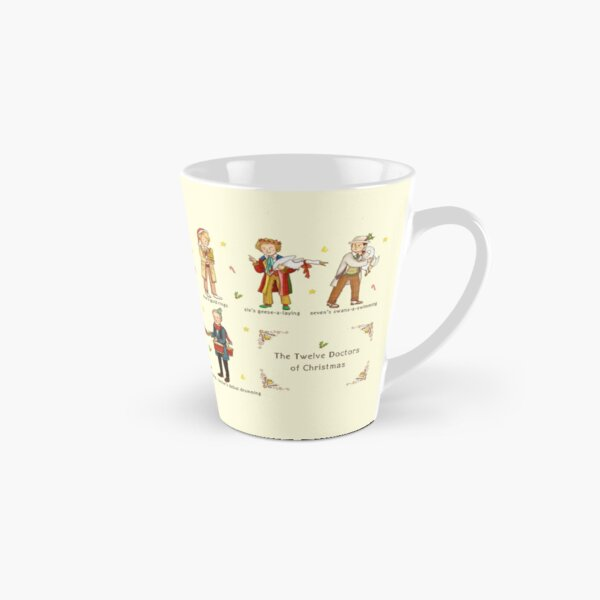 The Twelve Doctors of Christmas Tall Mug