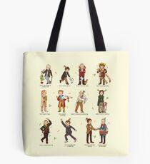 The Twelve Doctors of Christmas Tote Bag