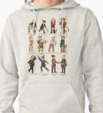 The Twelve Doctors of Christmas Pullover Hoodie
