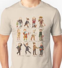 The Twelve Doctors of Christmas Unisex T-Shirt