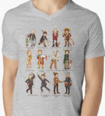 The Twelve Doctors of Christmas Men's V-Neck T-Shirt