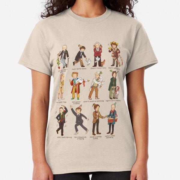 The Twelve Doctors of Christmas Classic T-Shirt