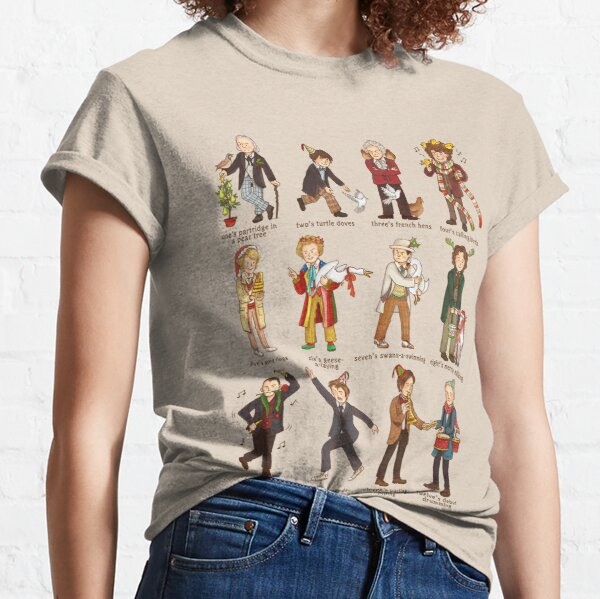The Twelve Doctors of Christmas Classic T-Shirt