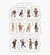 The Twelve Doctors of Christmas Sticker