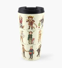 The Twelve Doctors of Christmas Travel Mug