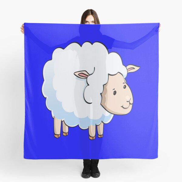 Sheep Scarf Ladies Mustard Yellow Wrap Black White Lamb Lambs Shawl Cute Animal