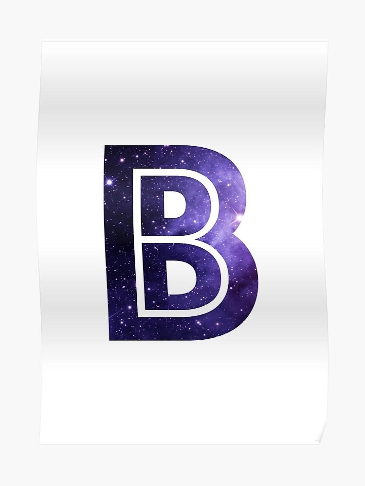Poster « La lettre B - Espace », par alphamike | Redbubble