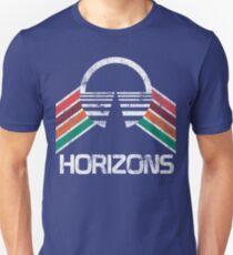 Camiseta ajustada Vintage Horizons apenado logotipo en estilo retro vintage