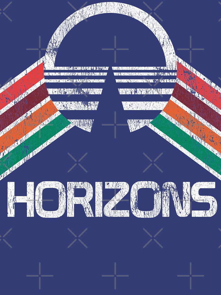 TShirtGifter presents: Vintage Horizons Distressed Logo in Vintage Retro Style | Unisex T-Shirt