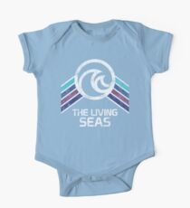 The Living Seas Distressed Logo in Vintage Retr Style Kids Clothes