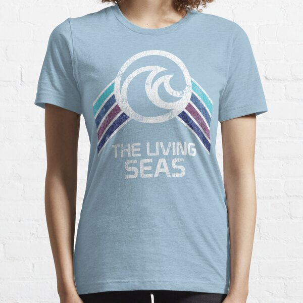 The Living Seas Distressed Logo in Vintage Retr Style Essential T-Shirt