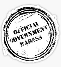 Official Government Badass graphic Sticker
