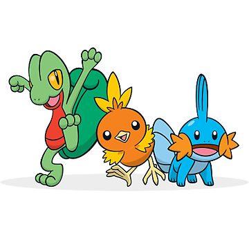 Pokémon Generation 3 Starters by cielpennings