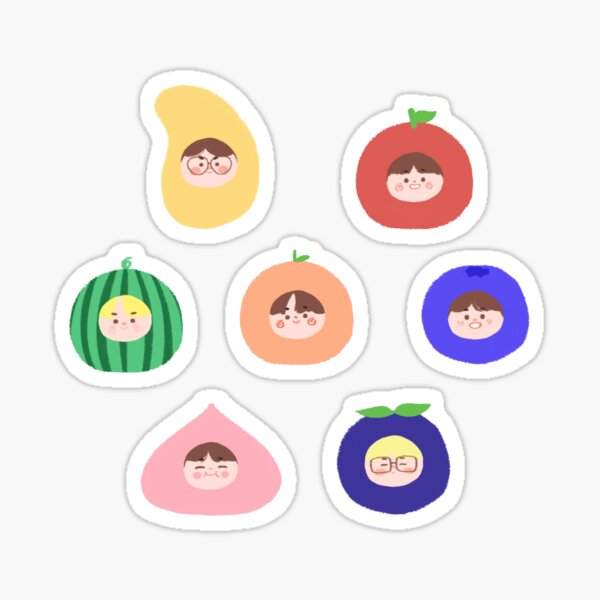 ¡ENHYPEN como frutas! (7 miembros) ☆ I-LAND Pegatina