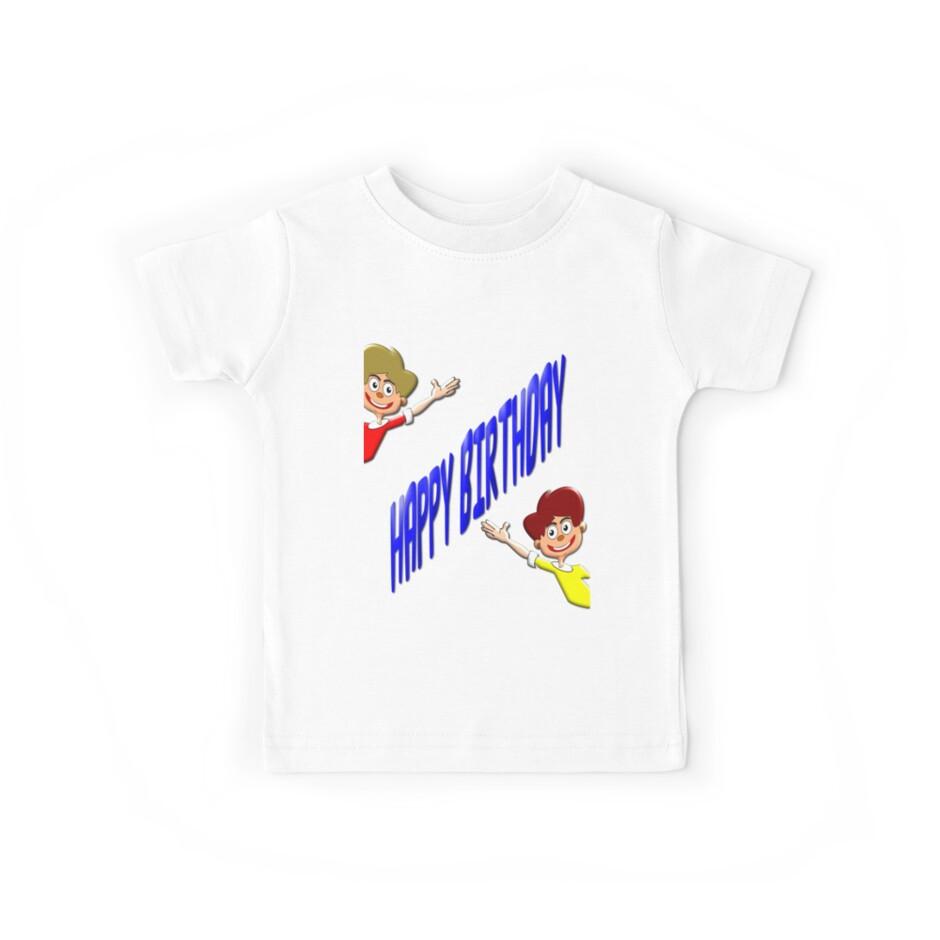 Happy Birthday T-shirt for Boys by Dennis Melling
