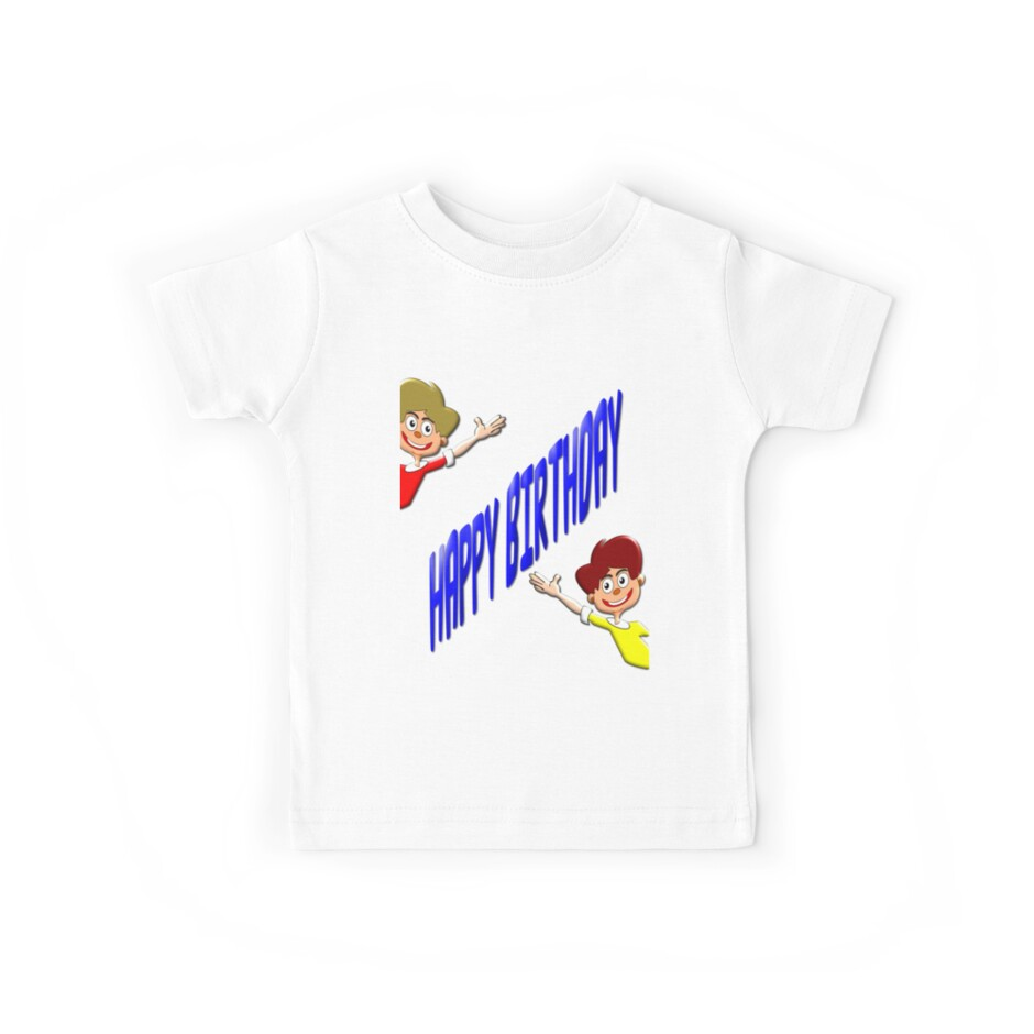 Happy Birthday T-shirt for Boys by Dennis Melling