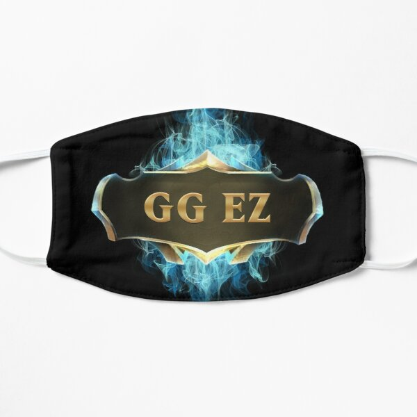 League of Legends GG EZ Mascarilla plana