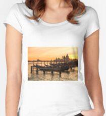 Venice Gondolas Women's Fitted Scoop T-Shirt