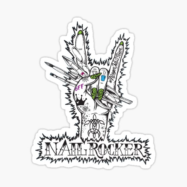 Nail Rocker Sticker