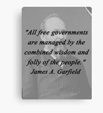 Garfield - Free Governments Canvas Print