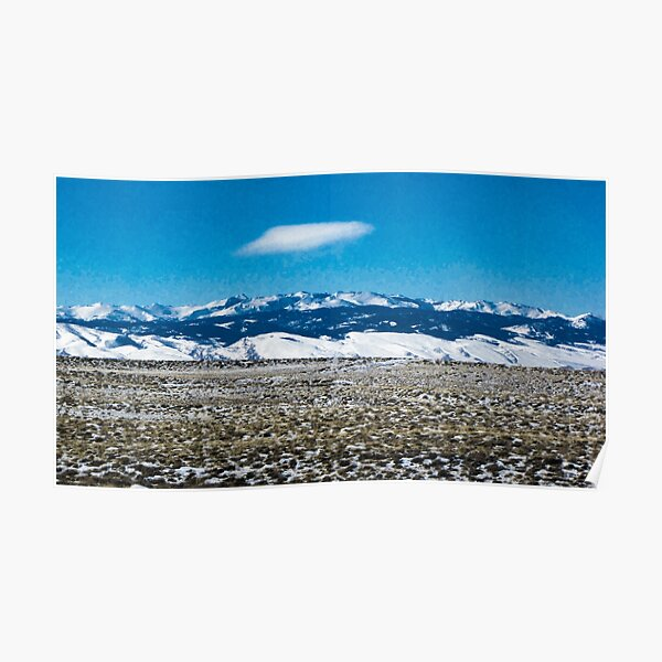 Snowy Mountains ~ Vintage Style Poster