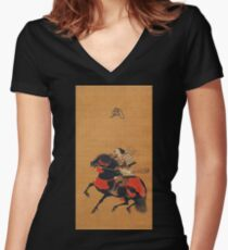 Mounted Warrior Women's Fitted V-Neck T-Shirt