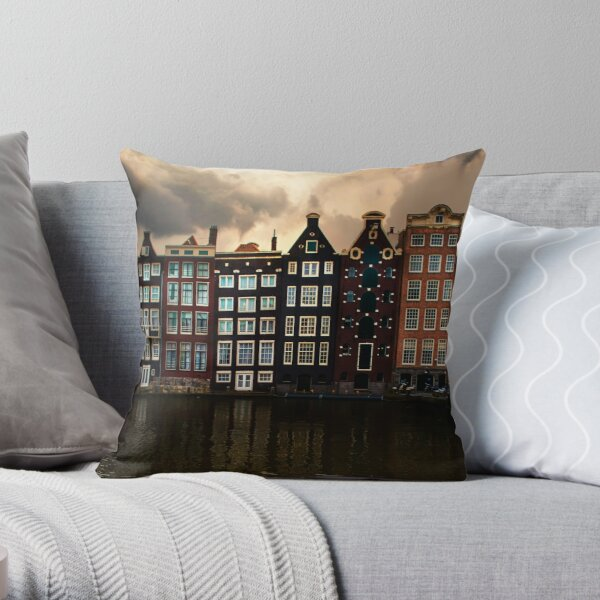 Postcards from Amsterdam Throw Pillow