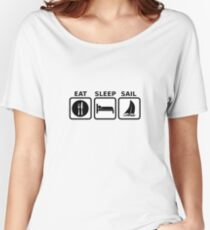 Eat Sleep Sail Women's Relaxed Fit T-Shirt