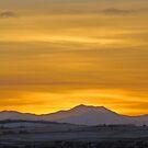 Sunset On The Rockies IV by Al Bourassa
