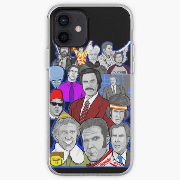 Will Ferrell collage art tribute iPhone Soft Case