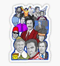 Will Ferrell collage art tribute Sticker