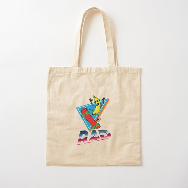 Rad Skater Banana Cotton Tote Bag