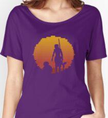 Star Wars - BB-8 & Rey : Jakku Sunset Women's Relaxed Fit T-Shirt