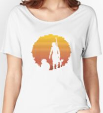 Star Wars - BB-8 & Rey : Jakku Sunset Women's Relaxed Fit T-Shirt