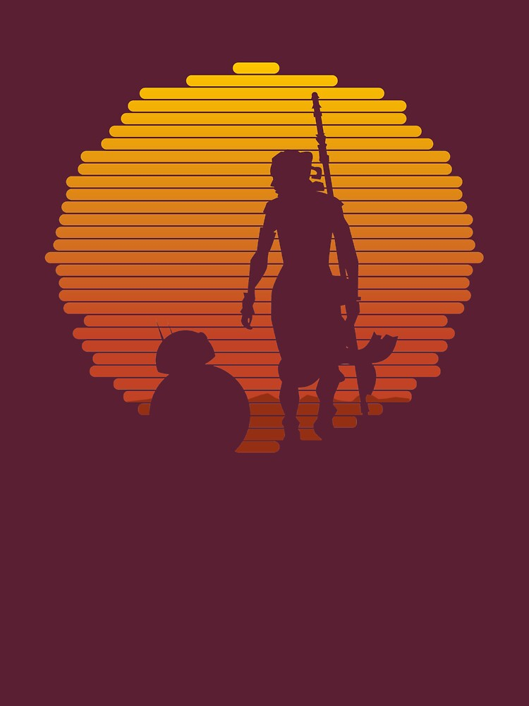 Star Wars - BB-8 & Rey : Jakku Sunset | Unisex T-Shirt